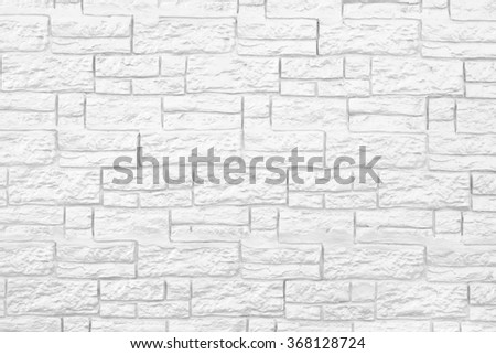 Fine arranged white brick wall for background and interior decoration - stock photo