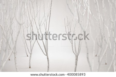 Fine art photo of a dreamy white background