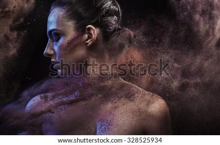 Fine art portrait of a stunning beauty - stock photo