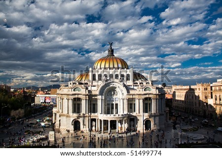 Fine Arts Museum, Mexico-city, Mexico - stock photo