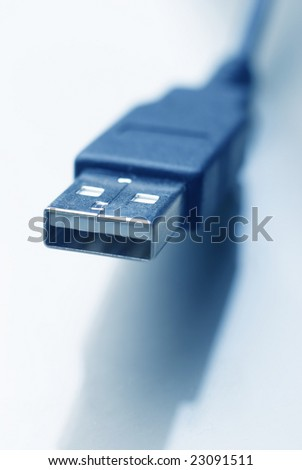Fine close up image of usb plug background selective focus