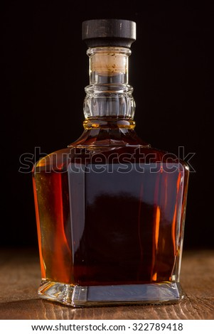 Fine Crystal Whiskey Bottle - stock photo