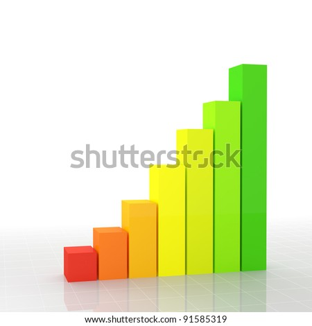 fine 3d image of financial graph