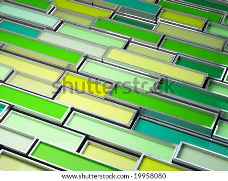 fine image 3d of chrome tank with green paint background