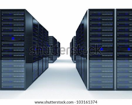 fine image 3d of server - stock photo