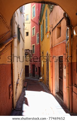 fine image of colorful building in menton,france