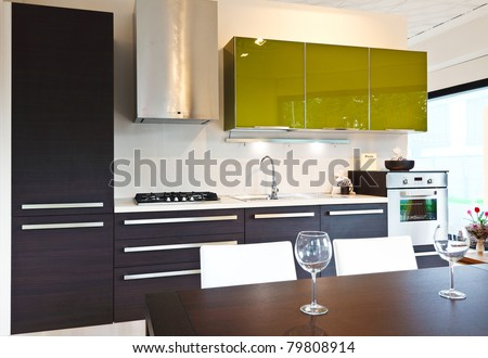 Modern Kitchen Background modern kitchen furniture stock photos, royalty-free images