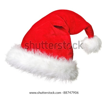 fine image of santa claus hat - stock photo