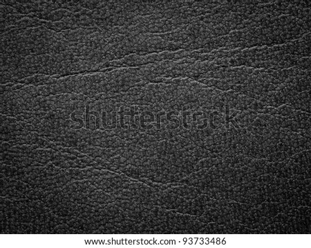 fine natural black leather background - stock photo