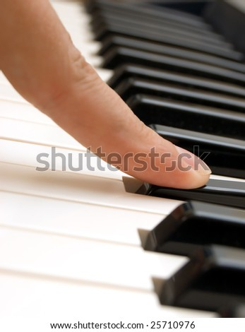 finger and piano