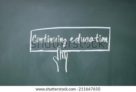 finger click continuing education symbol - stock photo