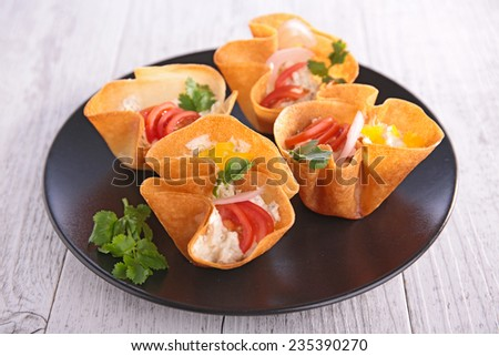 finger food, buffet food - stock photo