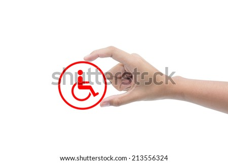 Finger for disabled  - stock photo