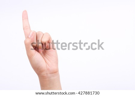 finger hand symbols isolated concept god thumbs pointing pray on the white background