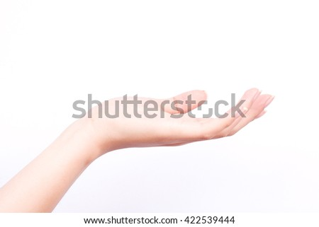 finger hand symbols isolated concept  world and digital technology in our hands on white background