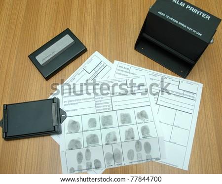 finger identyfication card - stock photo