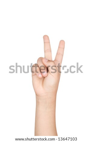 Finger isolated on white background