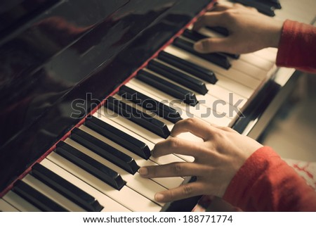Finger Piano - stock photo