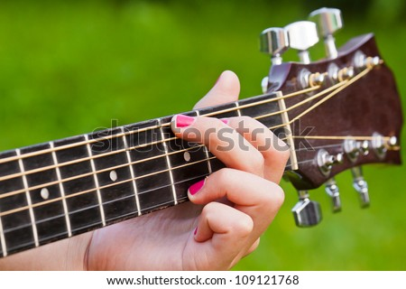 G Chord Guitar Finger Position Guitar Chords Stock Ph...