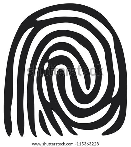 finger print (fingerprint) - stock photo