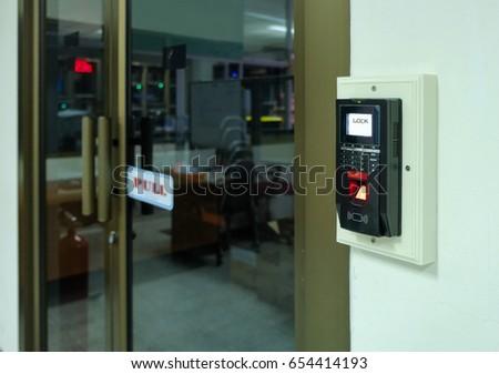 Finger print scanner for unlock door & Finger Print Scanner Unlock Door Stock Photo 654414193 - Shutterstock pezcame.com
