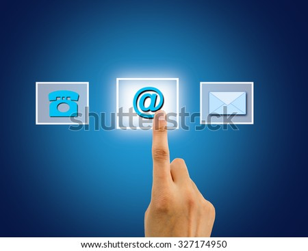 finger pushing button of internet connection on the interface - stock photo