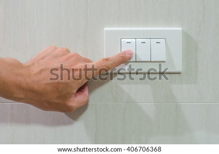 Finger put off switch for save energy concept