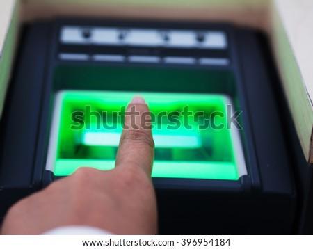 finger scan  - stock photo