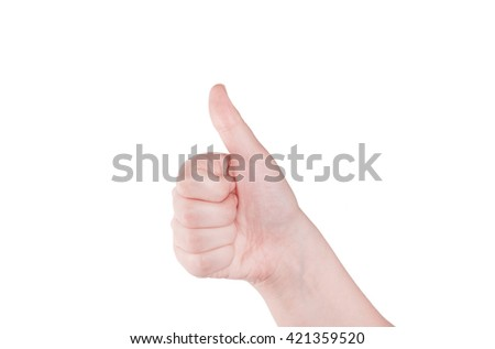 Finger Spelling the Alphabet in American Sign Language (ASL) - stock photo