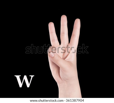 Finger Spelling the Alphabet in American Sign Language (ASL). The Letter O