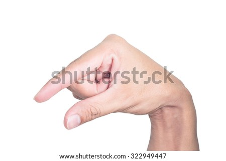 Finger Spelling the Alphabet in American Sign Language. The Letter Q