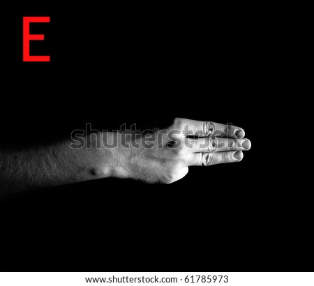 "Finger Spelling the Alphabet - Letter ""E"""