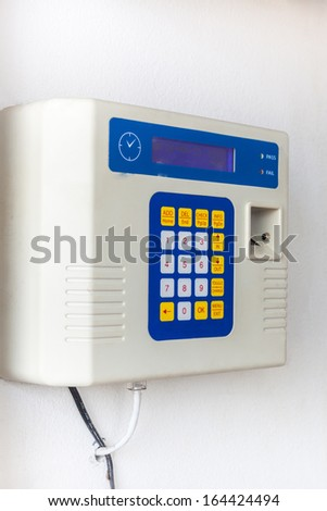 fingerprint and password lock - stock photo