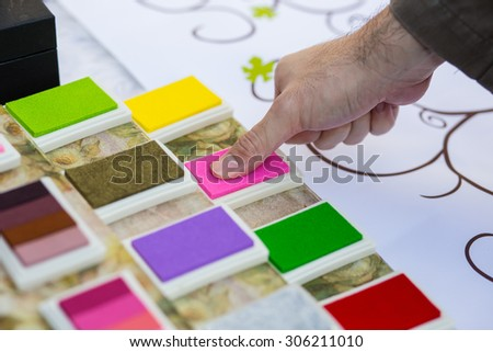 Fingerprint imprint - stock photo
