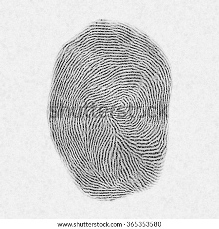 fingerprint pattern blur isolated on white - stock photo