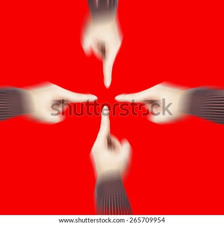 fingers pointing  - stock photo