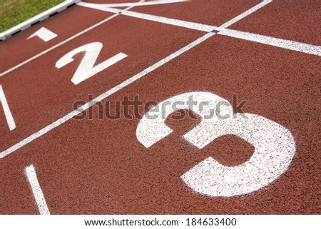 Finish Line - stock photo