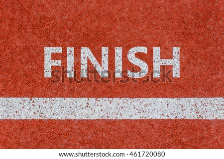 Finish line, Finish written on running track