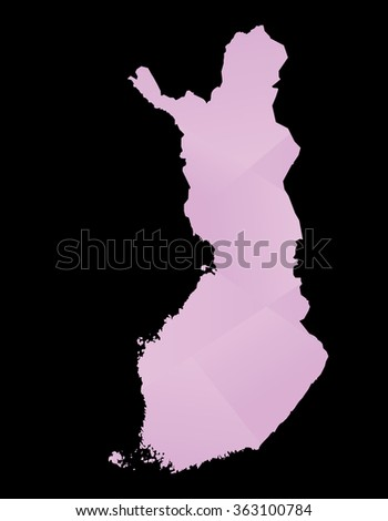Finland abstract map