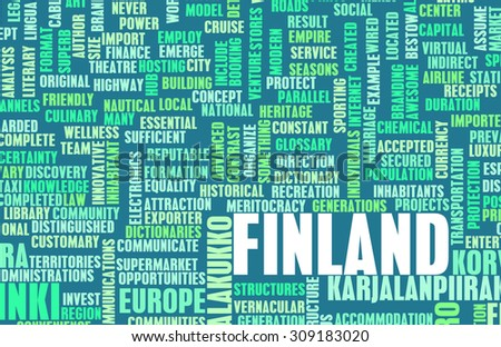 Finland as a Country Abstract Art Concept - stock photo