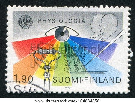 FINLAND - CIRCA 1989: A stamp printed by Finland, shows  International Physiology Congress, Basel, circa 1989