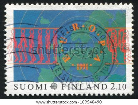 FINLAND - CIRCA 1991: stamp printed by Finland, shows Europa, circa 1991 - stock photo