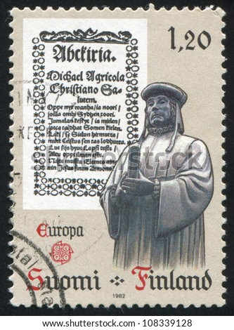 FINLAND - CIRCA 1982: stamp printed by Finland, shows Publication of Abckiria, circa 1982