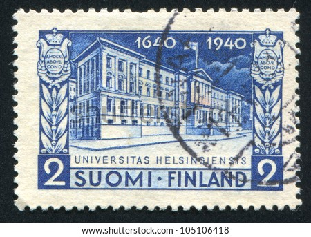 FINLAND - CIRCA 1940: stamp printed by Finland, shows University of Helsinki, circa 1940