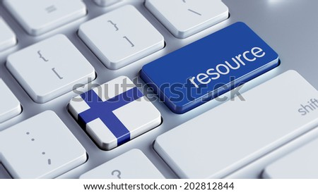 Finland High Resolution Resource Concept - stock photo