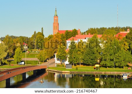 Finland. Savonlinna in a wonderful sunny autumn morning