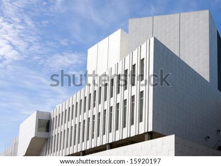 Finlandia Concert Hall by Alvar Aalto, Helsinki, Finland - stock photo