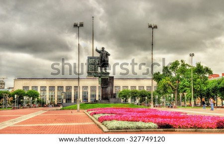 Finlyandsky Rail Terminal in Saint Petersburg - Russia - stock photo