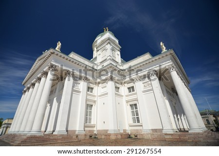 Finnish Evangelical Lutheran cathedral on the Senate square of Helsinki