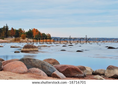 Finnish gulf shore in autumn